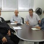 Momento da reunião no Gabinete da Presidencia da FAEASP em São Paulo