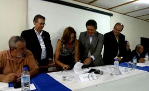 – Assinatura do Termo de Doação do Terreno.
