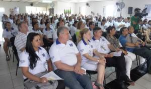 Auditório da Colônia de Férias lotado para as atividades e treinamentos do Encontro Estadual.
