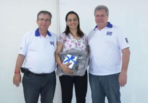Arqº Valdir Bergamini,  palestrante Kelly Ribeiro e o Engº Luiz Roberto Sega