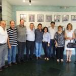 Presidente da FAEASP Arqº Valdir Bergamini e o Presidente do CREA-SP  Engº Francisco Kurimori com representantes da UNAOP
