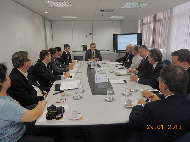 Representantes do Convênio se reunem na DISAP-BB em São Paulo.