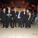 – Presidente da FAEASP Arqº Valdir Bergamini e Arquitetos participantes do jantar