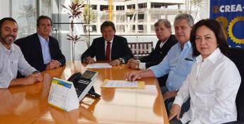 Reunião ocorrida no Gabinete da Presidência do CREA-SP