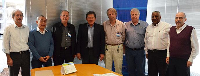 Participantes da reunião realizada no Gabinete da Presidência