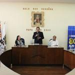 Presidente Kurimori na solenidade de inauguração da UPS de Pirajuí realizada na Câmara Municipal