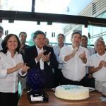 Diretores e Conselheiros da FAEASP e do CREA –SP cantam  parabéns