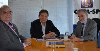 Presidente Kurimori, Presidente Paulo Roberto e o Vice Chacon