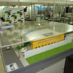 Maquete com modelo Padrão das Casas da Engenharia