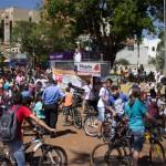 Concentração de ciclistas na Praça Mello Peixoto